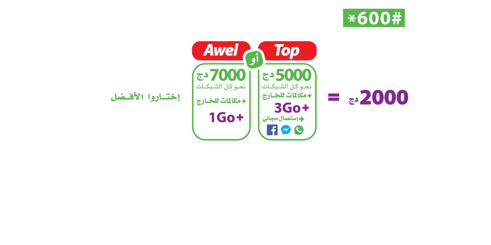 برنامج TOP موبيليس تطلق عروضها المحسنة الجديدة اول نحو جميع الشبكات